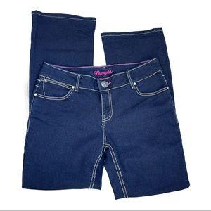 Wrangler Women's Dark Wash Boot Cut Jeans Sz 10